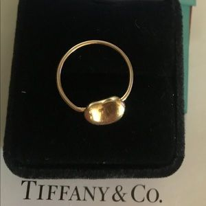 Tiffany & CO 18K YG Bean Ring Elsa Peretti